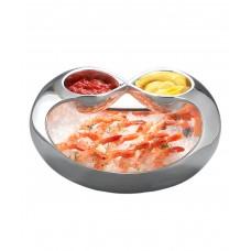 Блюдо для подачи закусок Infinity с двумя соусниками, дизайн Wey Young