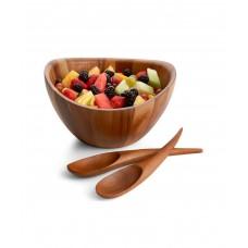 Чаша деревянная Harmony для салата с кулинарными ложками, дизайн Wey Young
