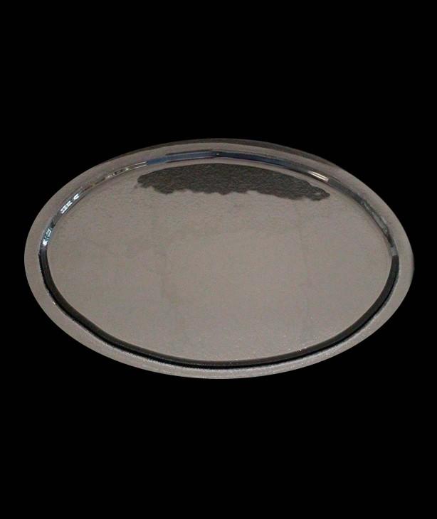Блюдо овальное для презентации 395*245 мм, дымчатое стекло Orb