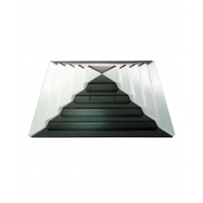 Блюдо для презентации черное стекло Пирамида (Прокат)