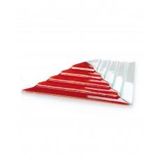 Блюдо для презентации красное стекло Пирамида (Прокат)