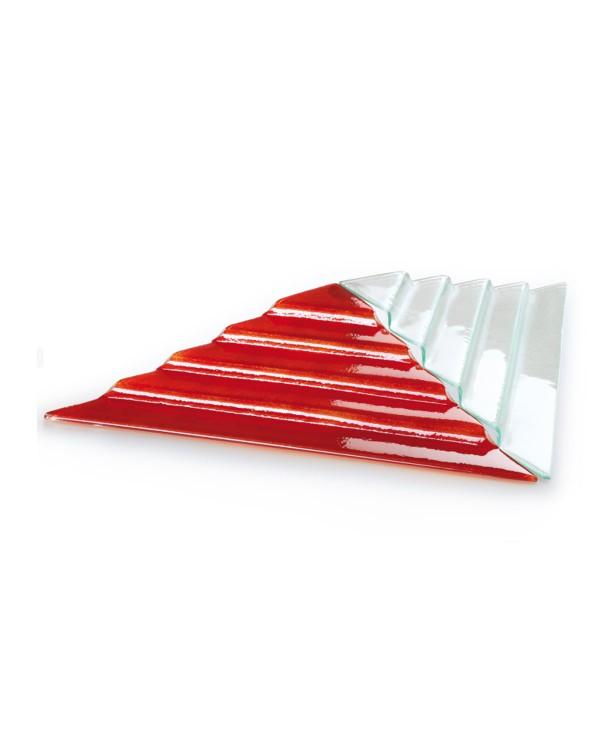Блюдо для презентации прозрачное стекло Пирамида (Прокат)