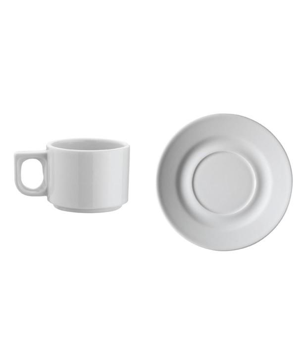 Чашка кофейная 80 мл с блюдцем Pera