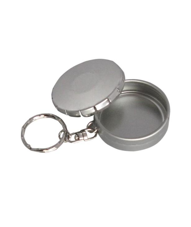 Брелок-коробка жестяная круглая