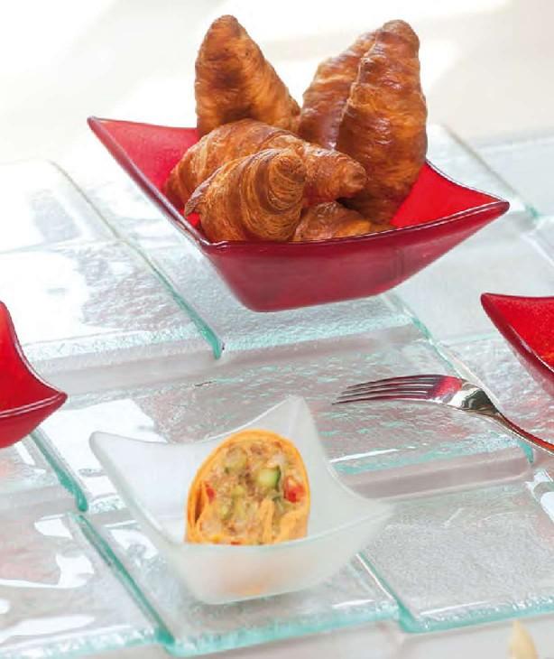 Емкость для закусок и соусов, стекло красное Ridde