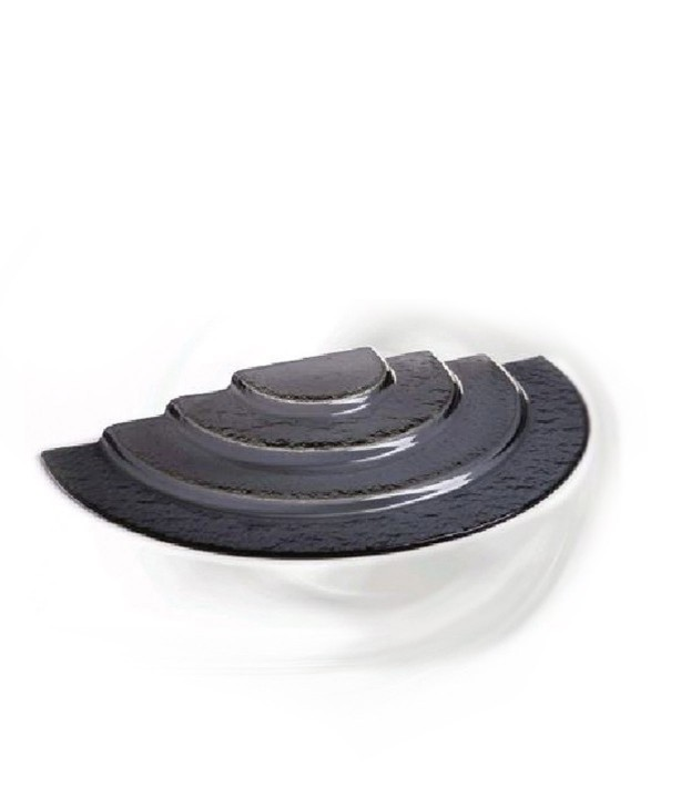 Фуршетная лестница 490*295 мм, черное стекло Sector (Прокат)