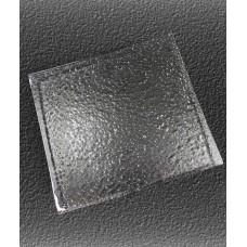 Блюдо прямоугольное 310*280 мм, прозрачное стекло Snail